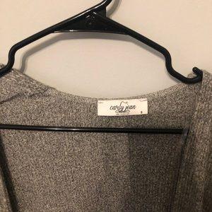 Carly Jean Los Angeles Sweaters - CJLA gray cardigan